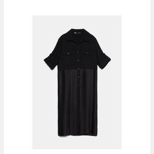 Zara Pleated Overshirt